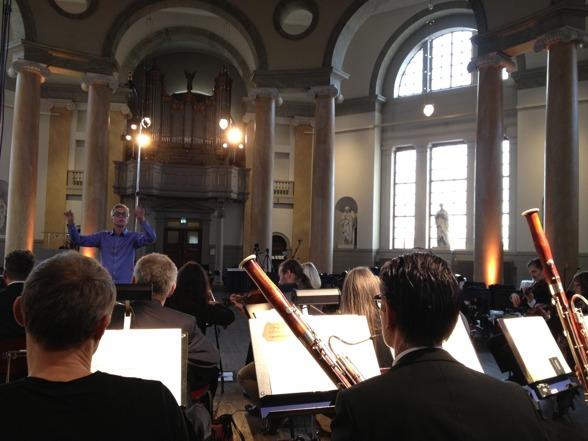 Pär Fridberg conducting the Royal Swedish Orchestra