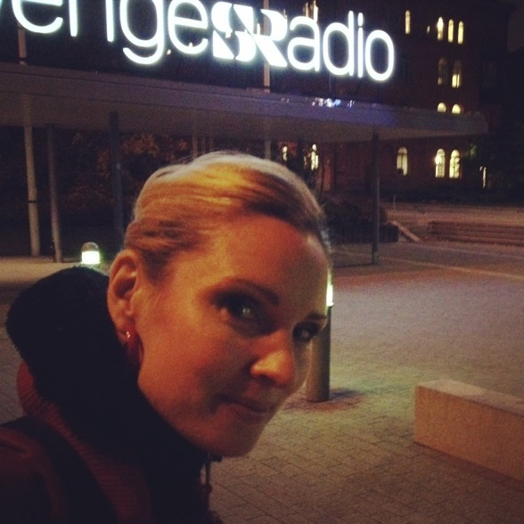 After rehearsal of Sirens by Hillborg. At the Swedish Radio.