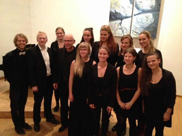 Performing students (including me and my colleague Göran Nygren) after concert at Bromma Folkhögskola.
