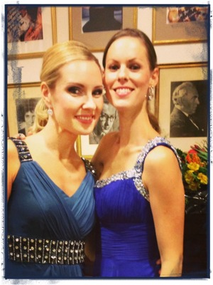 Proud and happy sirens; Hannah Holgersson and Ida Falk Winland
