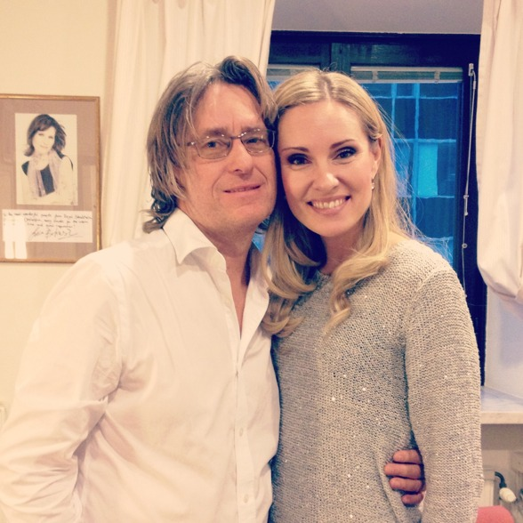 Anders Hillborg and Hannah Holgersson after a successful recording!