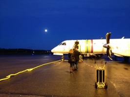 Early flight from Stockholm/Bromma for rehearsal in Karlskrona today!