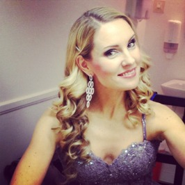 Hannah Holgersson back stage at Karlskrona Konserthusteater.