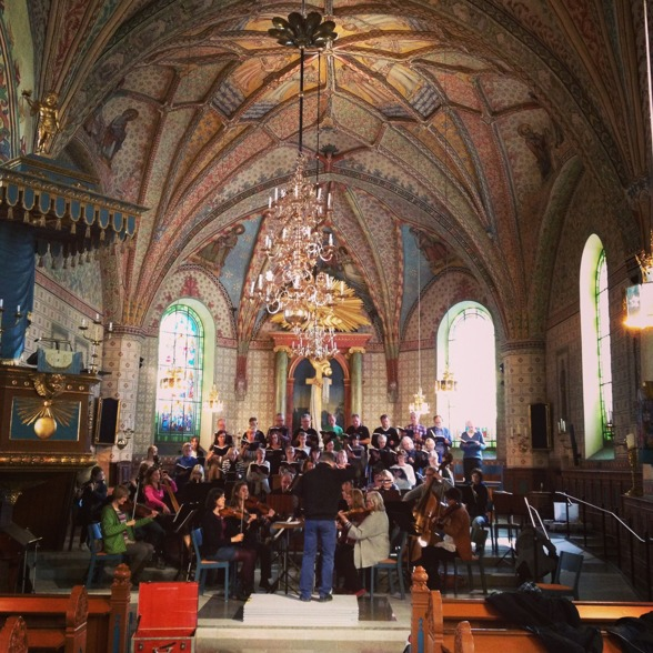 Rehearsal of St Matthew Passion in Vårfrukyrkan, Enköping.