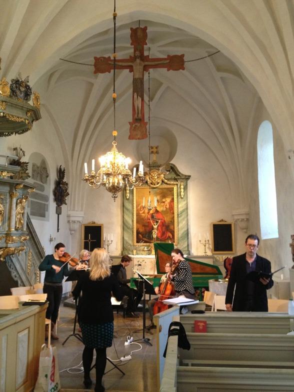 Rehearsal in beautiful Västra Ryds kyrka, Kungsängen