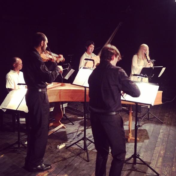 Peter Lönnerberg, Rastko Roknic, Dohyo Sol, Aureliusz Golinski and Emelie Roos during concert.