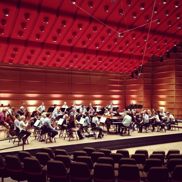Mahler Chamber Orchestra during dress rehearsal in Grieghallen, Bergen.