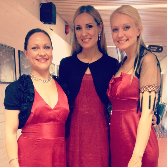 Magnhild Korsvik, Hannah Holgersson and Runa Hestad Jenssen after the concert!