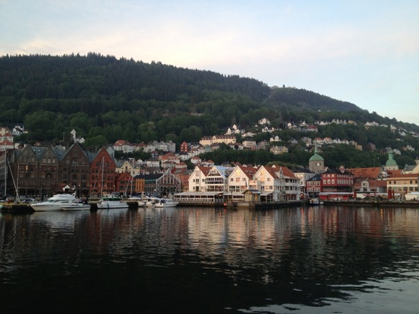 The waterside of Bergen!