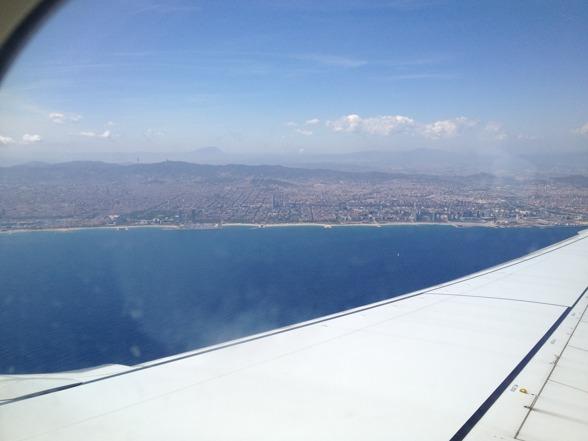 Approaching Barcelona!
