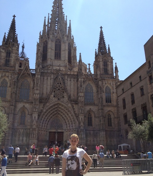 Elin Skorup enjoying Barcelona!