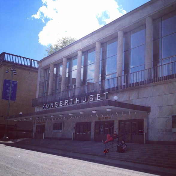 The Gothenburg Concert Hall bathing in sunshine!