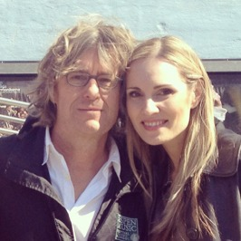 Anders Hillborg and Hannah Holgersson outside the Stockholm Concert Hall