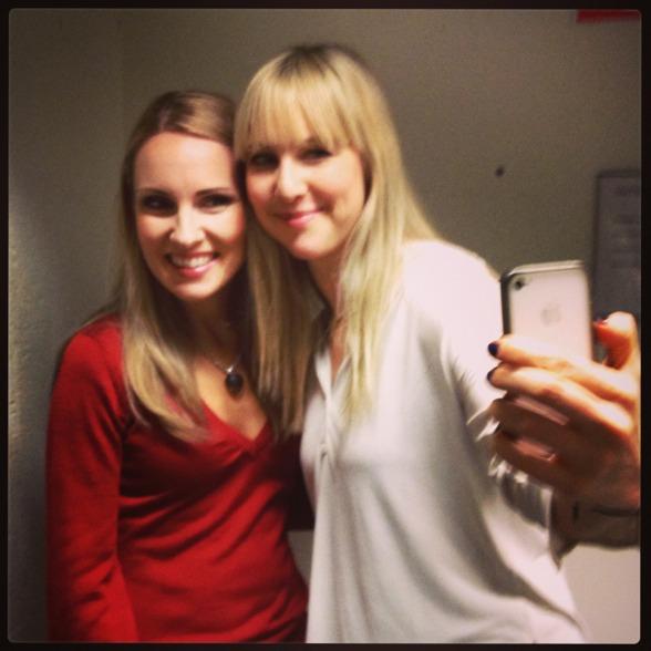 Selfie with Hannah Holgersson and Janna Vettergren at Folkoperan!