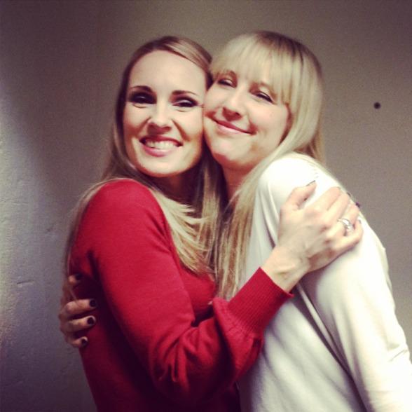 Me and dear Janna Vettergren at Folkoperan!