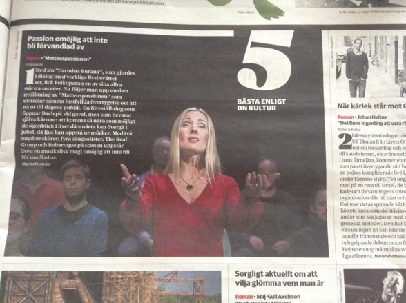 """According to DN Kultur; """"The best of the week""""!!"""