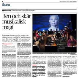 Dagens Nyheter (Martin Nyström), March 28th 2014