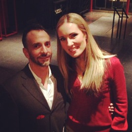 Wonderful director Joshua Sofaer and me after the premier!