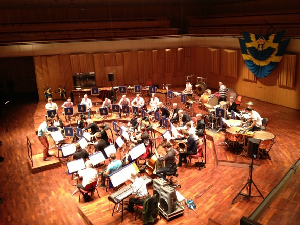 Marinens Musikkår during rehearsal in Berwaldhallen yesterday!