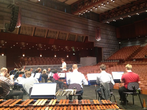 Rehearsal with Marinens Musikkår and Per-Otto Johansson in Crusellhallen!