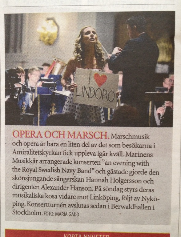 Review of the concert yesterday in the newspaper Sydöstran!