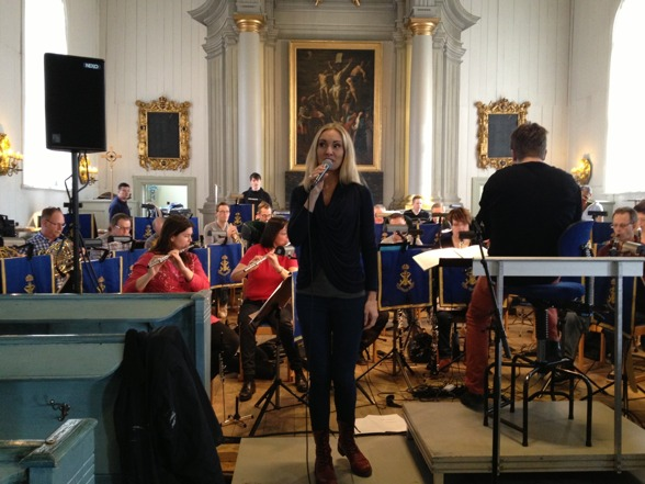 Hannah Holgersson during rehearsal in Amiralitetskyrkan earlier today!