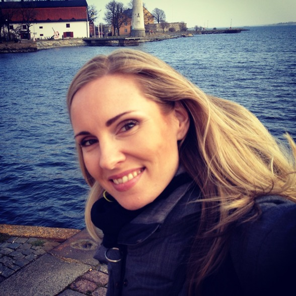 Hannah Holgersson outside the rehearsal venue, Karlskrona!