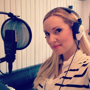 Hannah Holgersson during the recording session