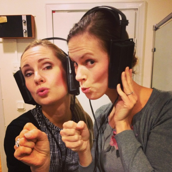 Hannah Holgersson and Ida Falk Winland preparing Sirens, November 2014.