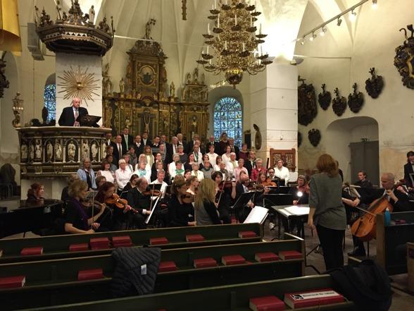 Dress rehearsal at Alla Helgona kyrka, Nyköping.