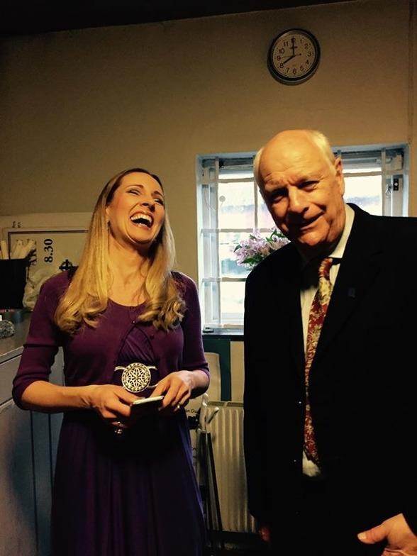 Hannah Holgersson and Tomas Bolme. We met in God in Disguise/Förklädd gud a year ago. This was a dear reunion! =)