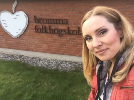 Hannah Holgersson at Bromma Folkhögskola, Stockholm