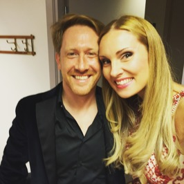 Conductor Simon Crawford-Phillips and Hannah Holgersson at Musikaliska