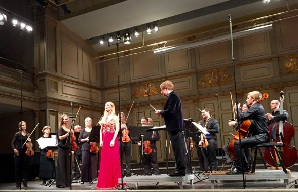 Hannah Holgersson, Musica Vitae and Simon Crawford-Phillips. Photo: Anders Paulsson