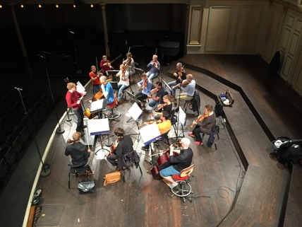 Musica Vitae during dress rehearsal at Musikaliska.