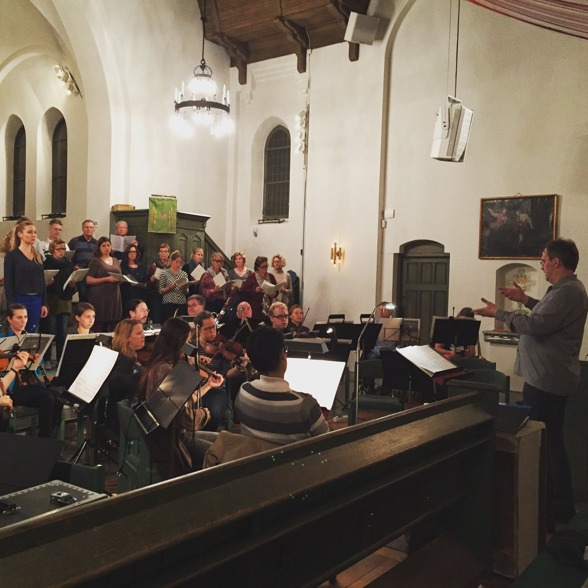 Rehearsal of God in Disguise by Lars-Erik Larsson in Gustavsbergs kyrka. Conductor: Stefan Själander