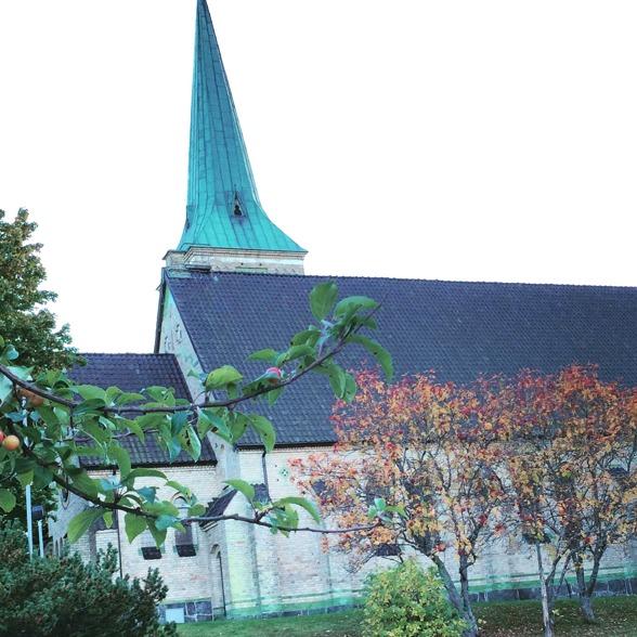 Gustavsbergs kyrka in October