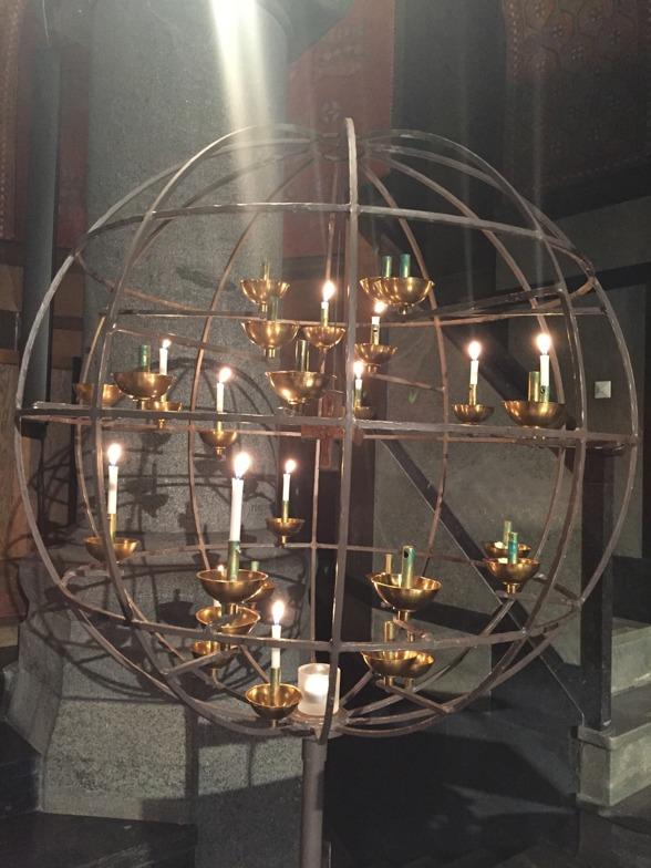 Candle lights at Uppenbarelsekyrkan, Saltsjöbaden