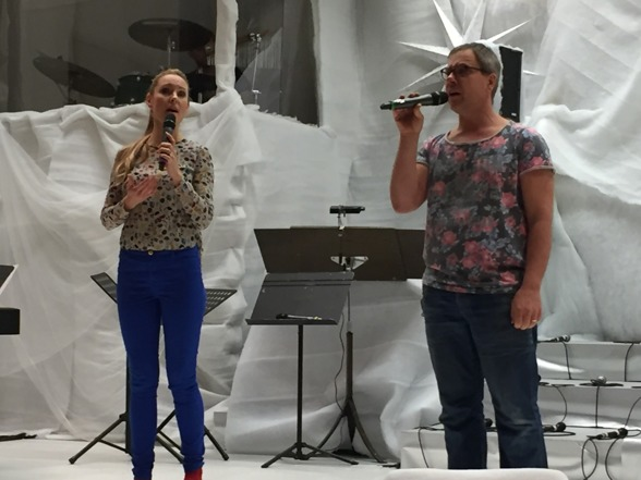 Hannah Holgersson and Mattias Johansson during rehearsal