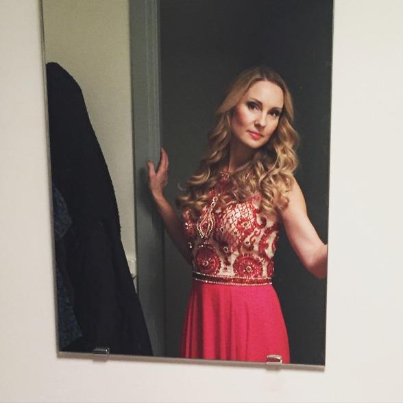Hannah Holgersson backstage