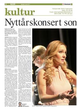 Review of the New Year Concert in Bardufoss, Istindportalen. Folkebladet, Norge, Birger Caspersen