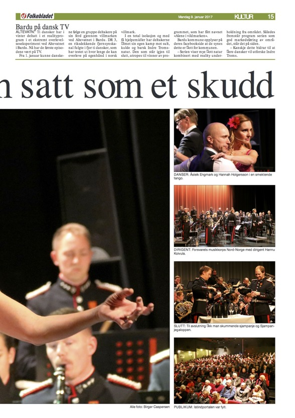 Review of the New Year Concert in Bardufoss, Istindportalen. Folkebladet, Norge, Birger Caspersen