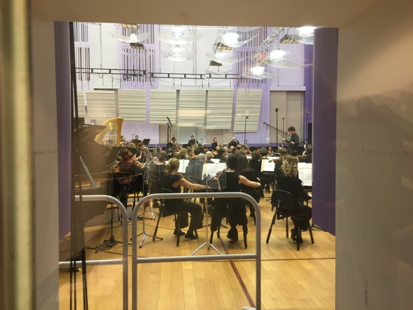 During the concert recording from backstage