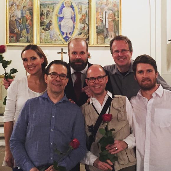 From the left: Hannah Holgersson, Mikael Bellini, Jakob Högström, Olof Lilja, Stefan Själander and Erik Arnelöf