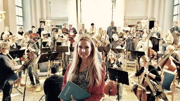 Hannah Holgersson during Mozart rehearsal with Adolf Fredriks kyrkas kammarkör and REbaroque.