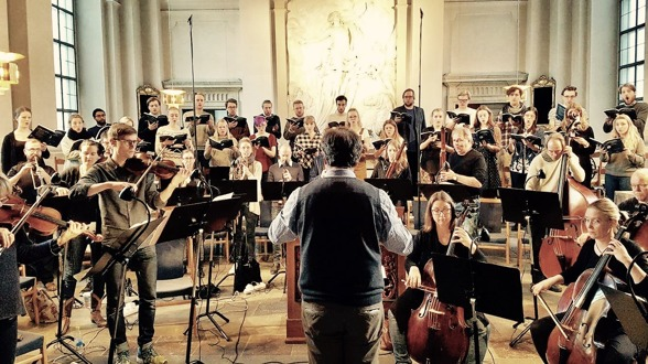 Conductor Christoffer Holgersson, REbaroque and Adolf Fredriks kyrkas kammarkör