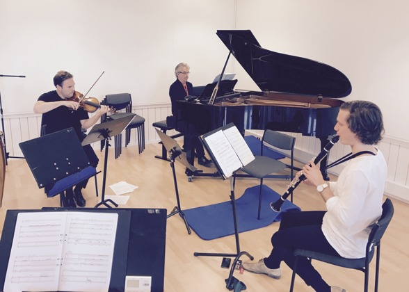 Christian Svarfvar, Staffan Scheja and Magnus Holmander during rehearsal