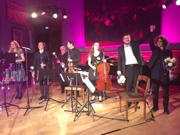 Hannah Holgersson, Magnus Holmander, Staffan Scheja, Christian Svarfvar, Hanna Dahlkvist, Benjamin Staern and Jacob Mühlrad at the premier!