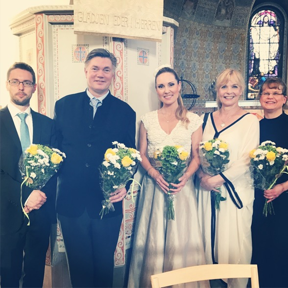 Fredrik Ewaldsson, Gunnar Birgersson, Hannah Holgersson, Gunnel Fred and Kristina Hagwall at Sundbybergs kyrka.