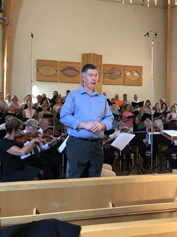 Gunnar Birgersson during dress rehearsal at Rissnekyrkan.